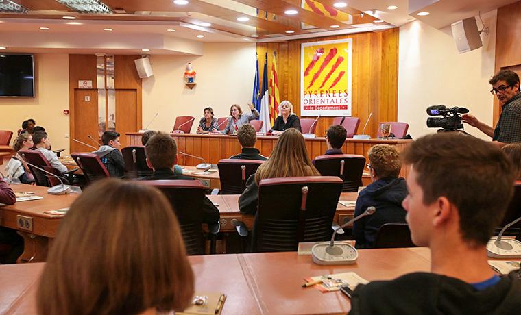 L'Assemblée départementale des Collégiens le 22 mai dernier